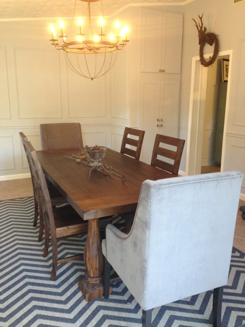 Antique Silver On The Walls Paired With Grey Upholstered Dining Room Chairs  To Keep Things Monochromatic Part 92