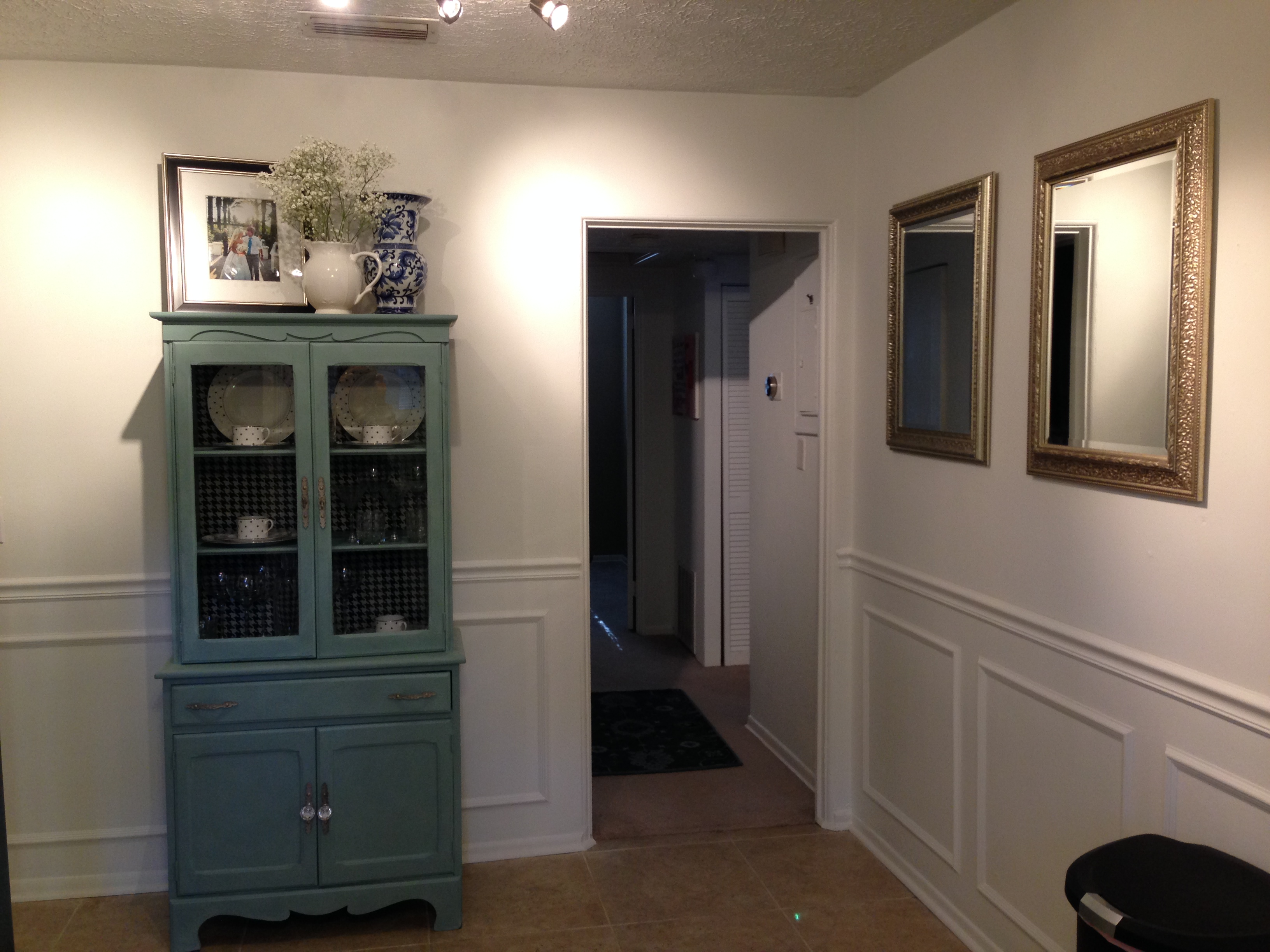 Hutch painted with Annie Sloan's Duck Egg Blue