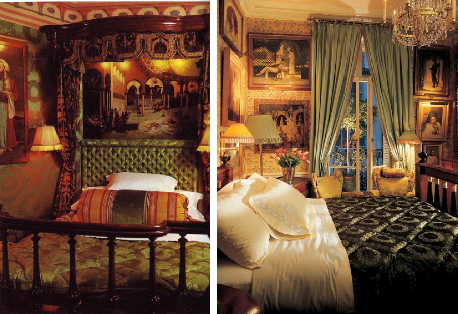 Foucade decorated bedroom; the inspiration for my bedroom in 7th grade [photo: Architectural Digest]