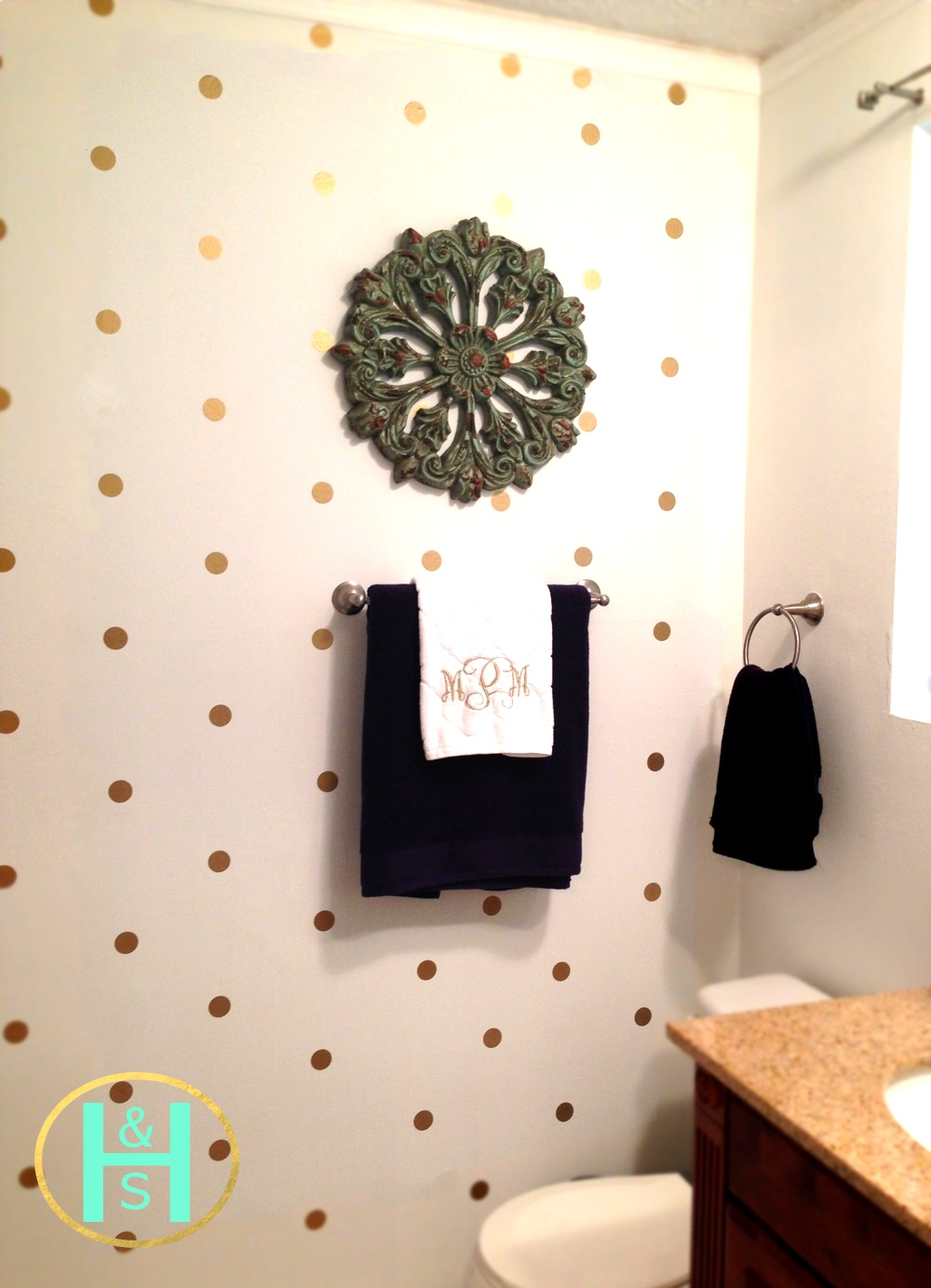 Gold Dot Decals As Wallpaper From The Lovely Wall Co