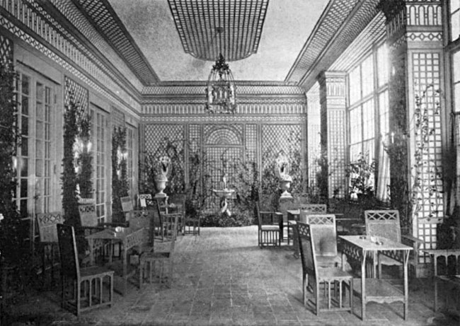 de Wolfe's Colony Club's Trelis Room