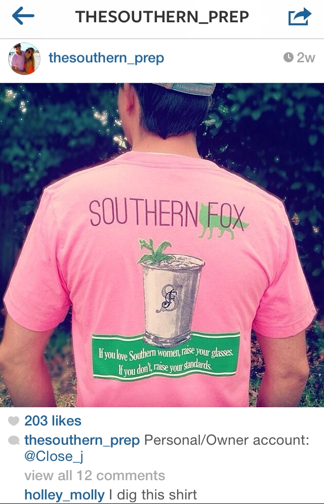 Featured on Instagram by The Southern Prep Blogger