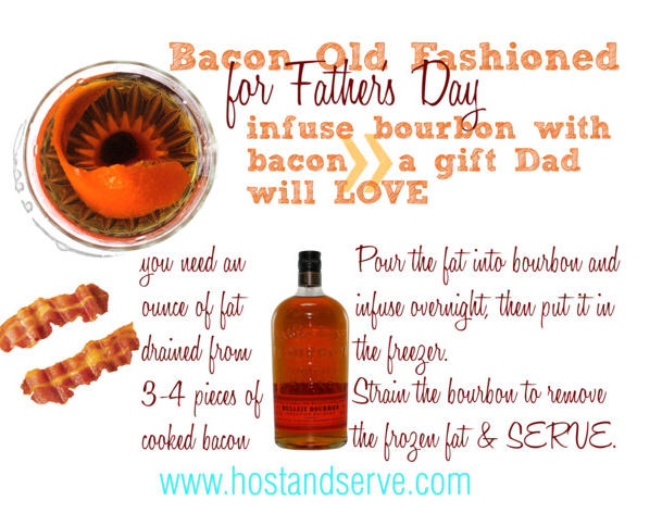 Make your dad bacon infused bourbon for Father's Day.