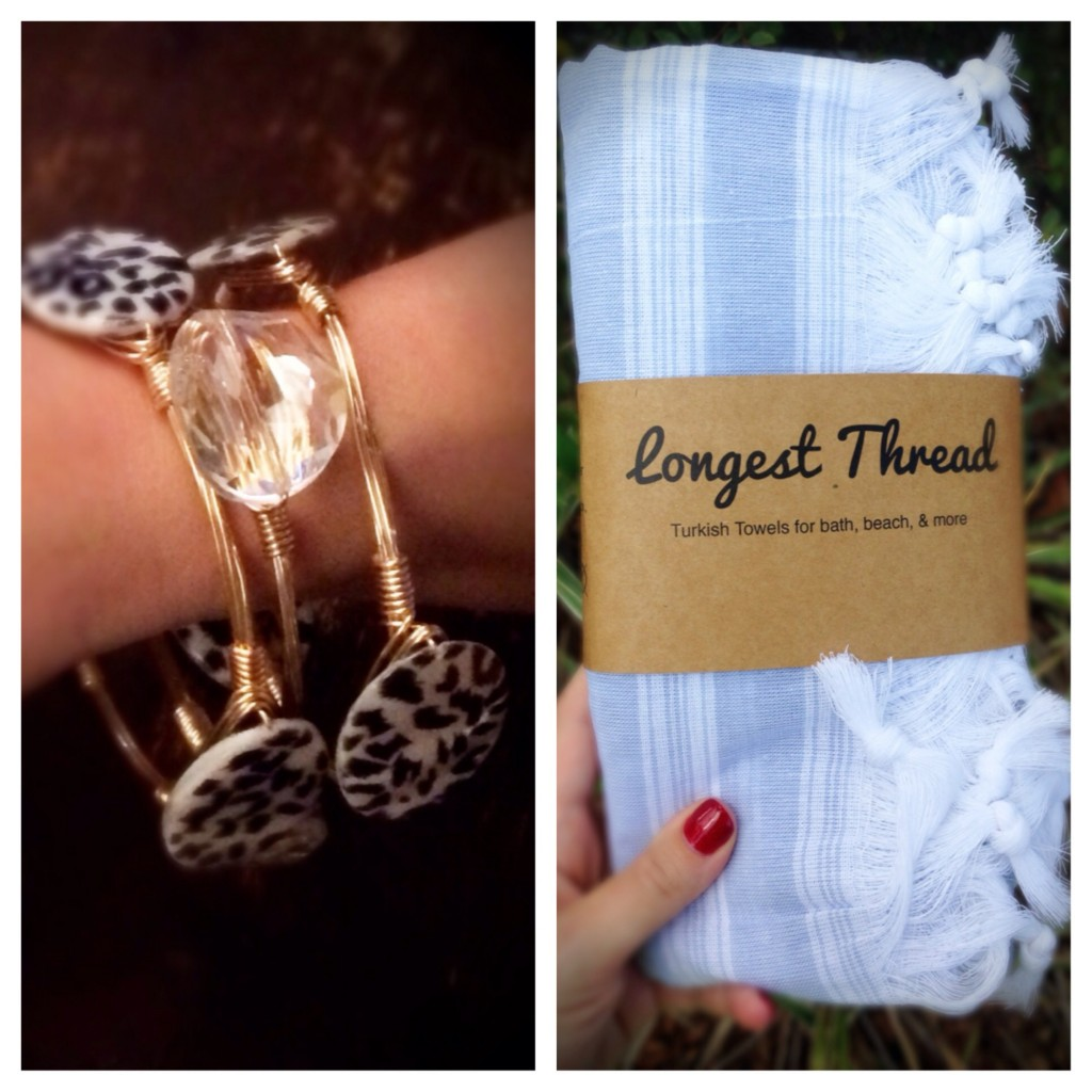 Friday Favorites- stackable bangles from Shop Electric and Turkish towels from Longest Thread