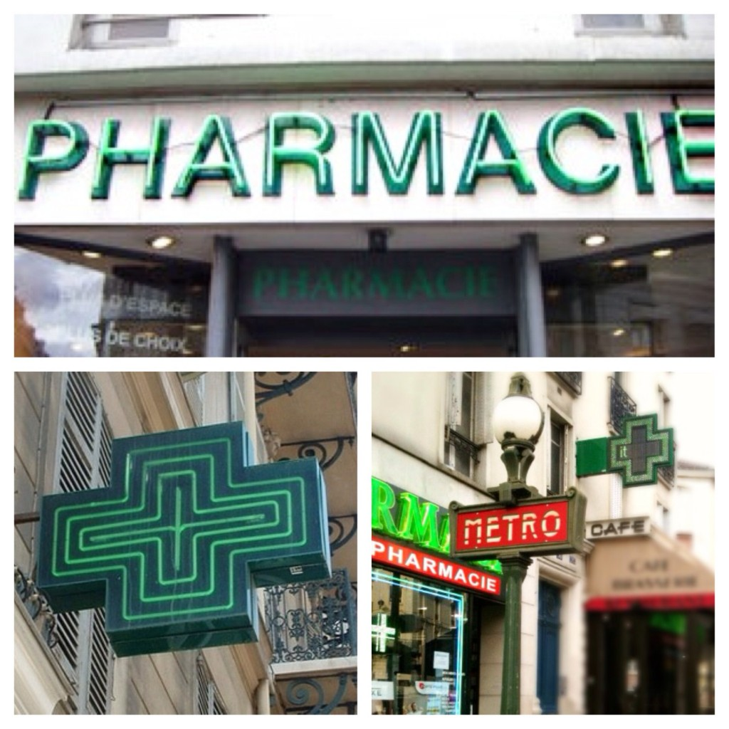 The beauty chemists of France... Pharmacies.