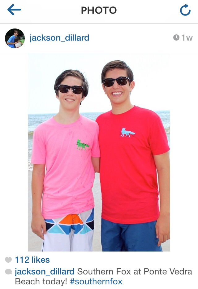 A pair of southern brothers rocking their SF shirts on Ponte Vedra Beach.