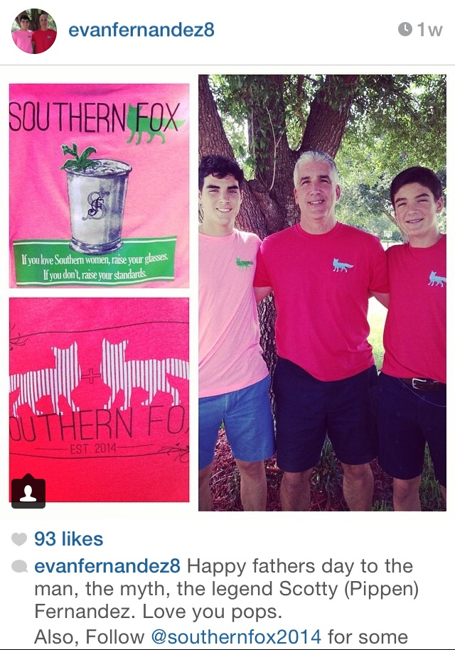 A sweet family wears Southern Fox during the holiday weekend.