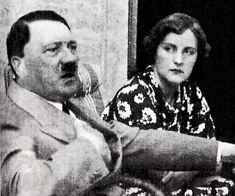 Hitler and Unity Mitford~ photo cred- Daily Mail