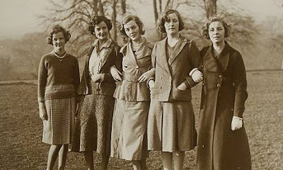 All 6 Mitford Sisters in 1935- photo from Harper Collins