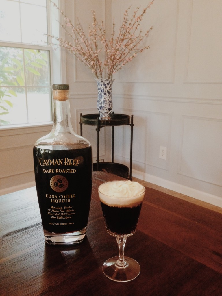 A perfect nightcap for a dinner party is an iced coffee cocktail.