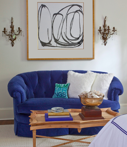 a bedroom sitting area from the portfolio of Parker Kennedy Living