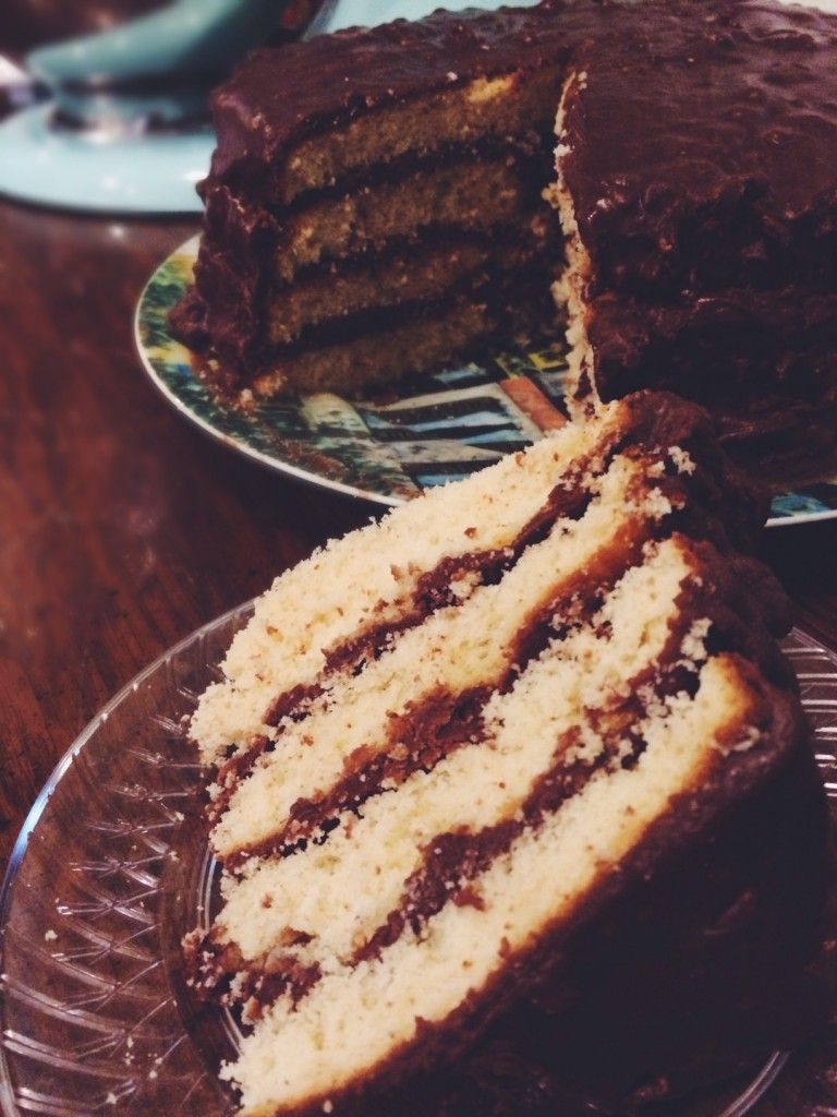 Aunt Inez's 4-Layer Chocolate Cake