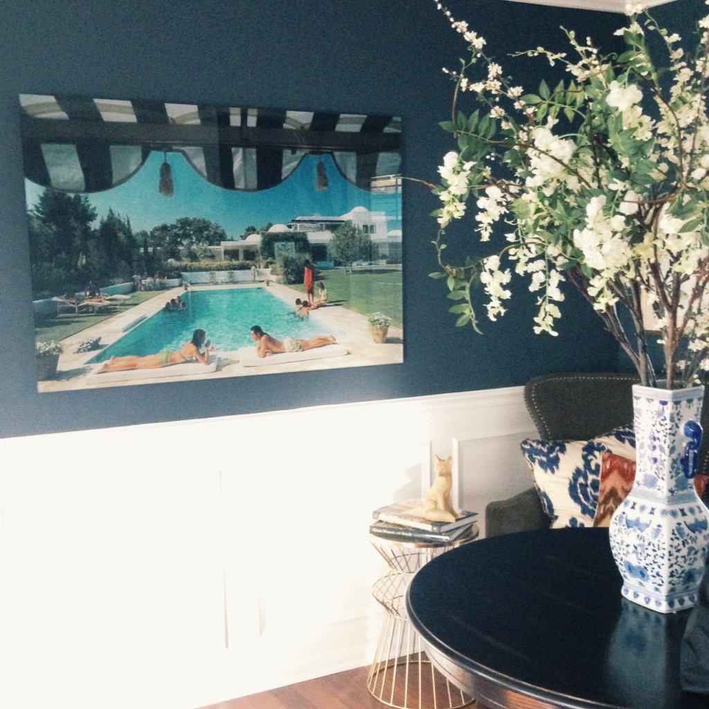 "Slim Aarons's ""Poolside in Sotogrande"" print on acrylic"