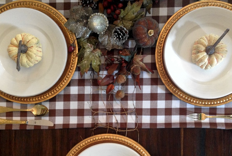 Buffalo check is a great pattern for fall and Thanksgiving linens.