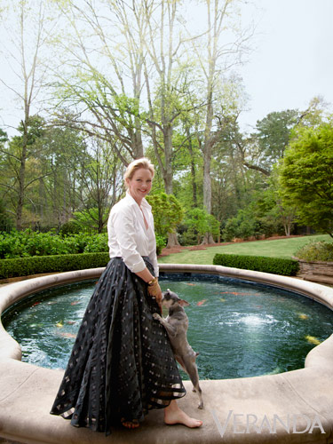 Danielle Rollins at her former home Boxwood