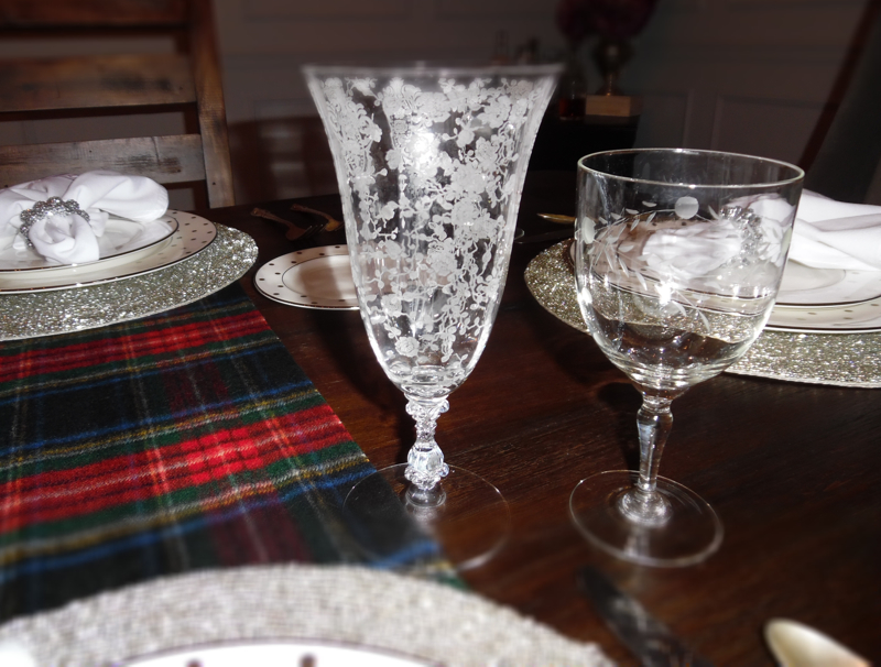 The past and present table; Cambridge's 1935 Rose Point Crystal stemware
