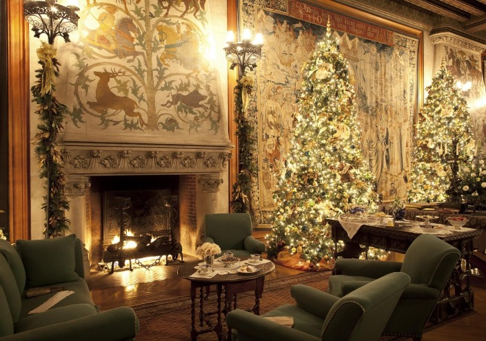 One of my favorite rooms at the Biltmore House, decorated for Christmas.