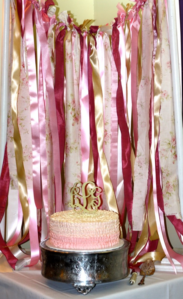 Cake and Ribbon Banner