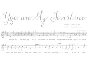 You are My Sunshine Custom Art