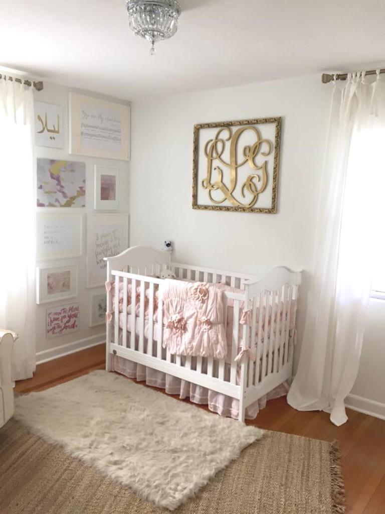 Elegant Pink and Gold Nursery