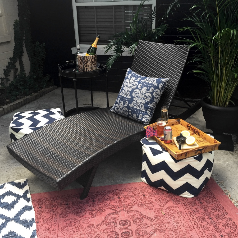 We recently painted part of our patio Dark Forest Green and I love the new backdrop to outside gatherings.
