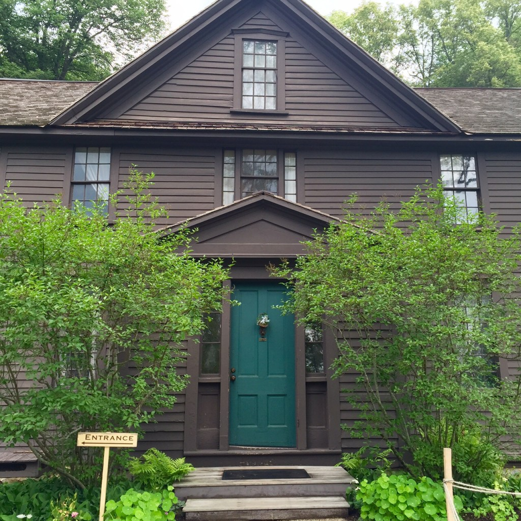 The lovely home of Louisa May Alcott where she based and penned the classic, Little Women. (Concord/peterson)