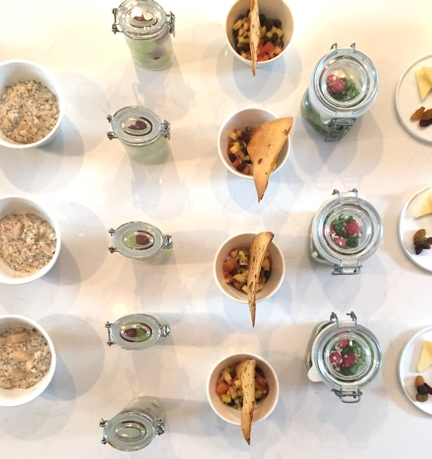 Tapas-style breakfast selections at Gilded Hotel