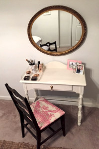 The final product and transformed vanity.