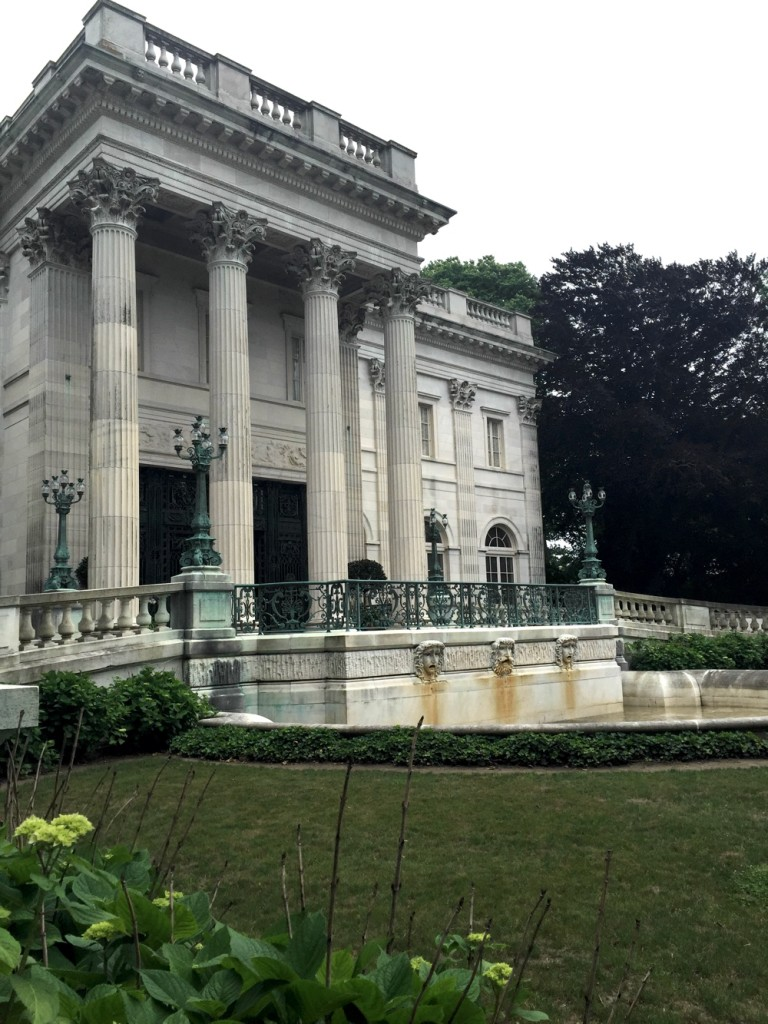 Our approaching view of Marble House in June.