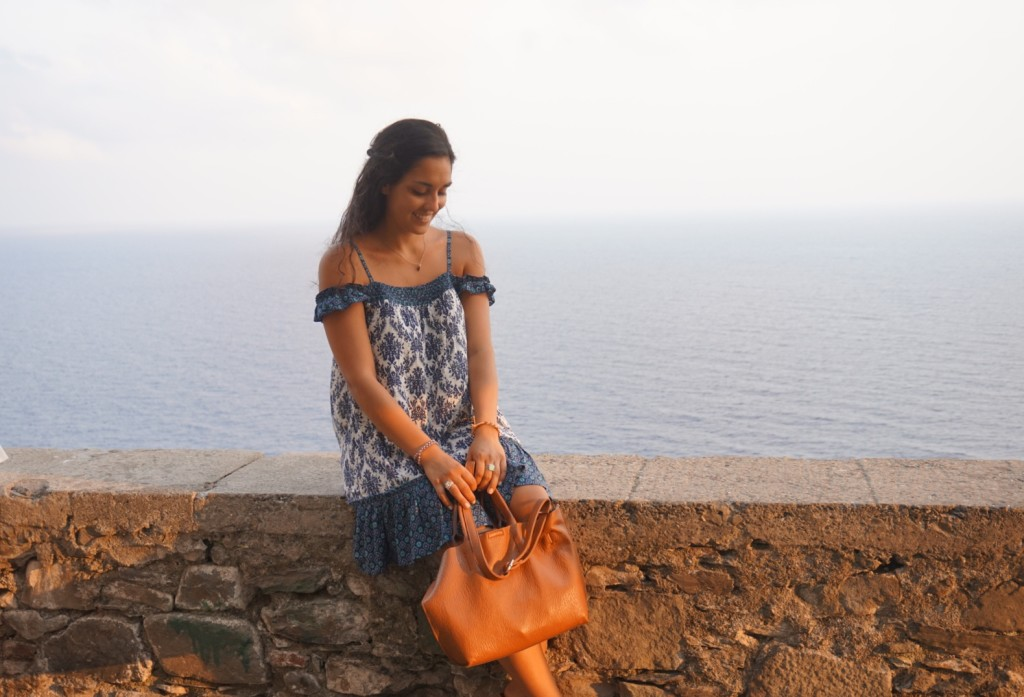 Guest Travel Blogger Brittany Riker on the shores of Western Italy