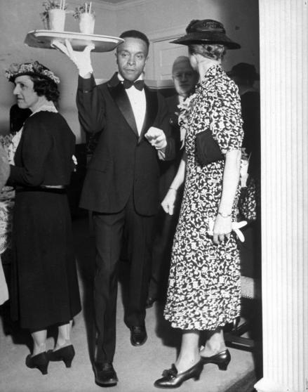 "In May 1937, LIFE Magazine dedicated its ""LIFE Goes to a Party"" feature to a mint julep fête held at the Louisville residence of Julian P. Van Winkle and his wife. Van Winkle, president of the Stitzel-Weller Distillery, served up the traditional derby drink, made exclusively with bourbon from his own label. Photographer Alfred Eisenstaedt captured guests who were partaking in the mint julep experience in the only acceptable way: by imbibing vast quantities."