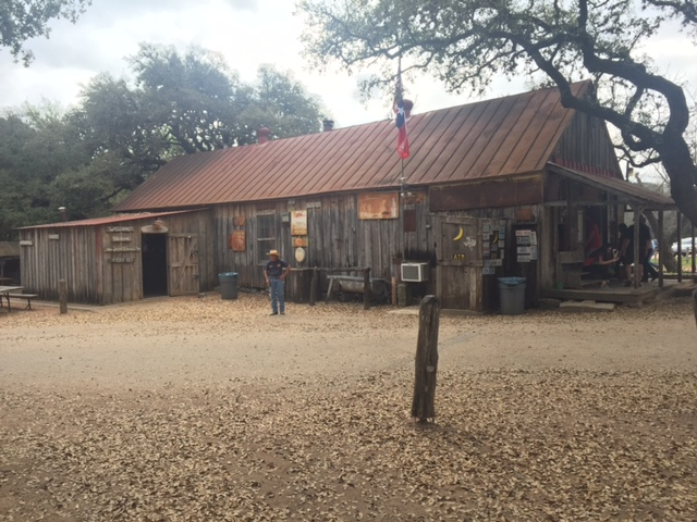 This is the Luckenbach General Store and Beer Joint.