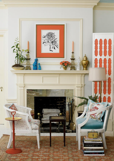 -from Southern Living Eddie Ross mixes in flea market finds to create a beautifully layered room.